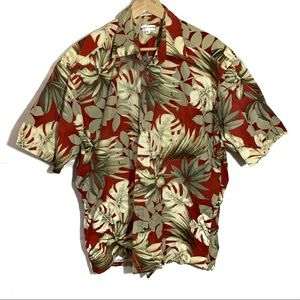 Pierre Cardin palm leaf tropical short sleeve XL